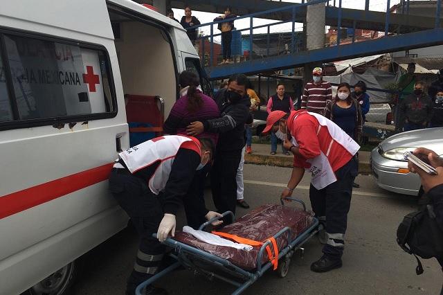 Atropellan a una mujer debajo de un puente peatonal en Xicotepec