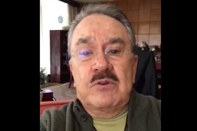 Pedro Sola llama retrogradas a mujeres que quitaron arcoíris de cruce