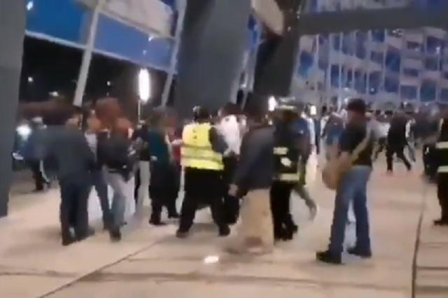 Puebla-Santos terminó en pelea campal a las afueras del Cuauhtémoc