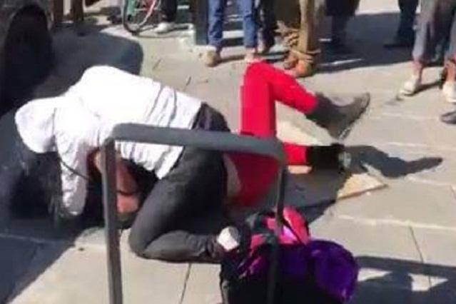 VIDEO VIRAL Mujeres pelean, hombres se golpean y nadie los separa