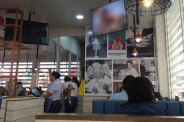 Bochornoso: Pasan película porno en restaurante de Veracruz