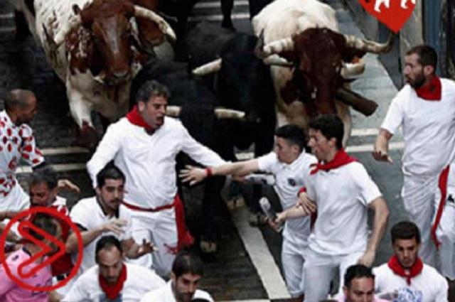 Pamplona...Un encierro corrido de manera rápida pero con mucho peligro