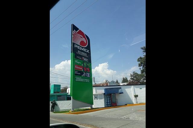 Baja precio de la gasolina en establecimientos de Atlixco