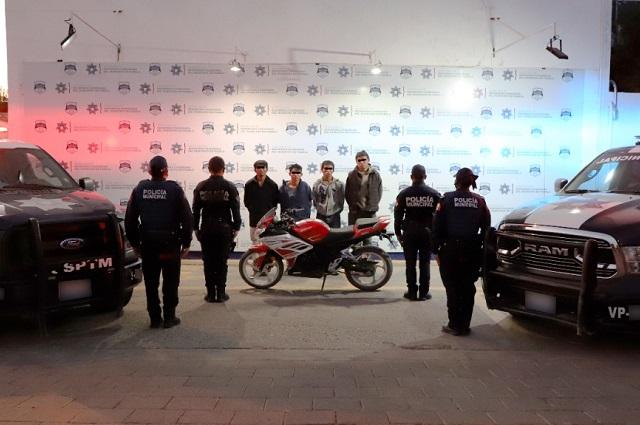 Alerta por app permitió detener a 4 asaltantes en Puebla