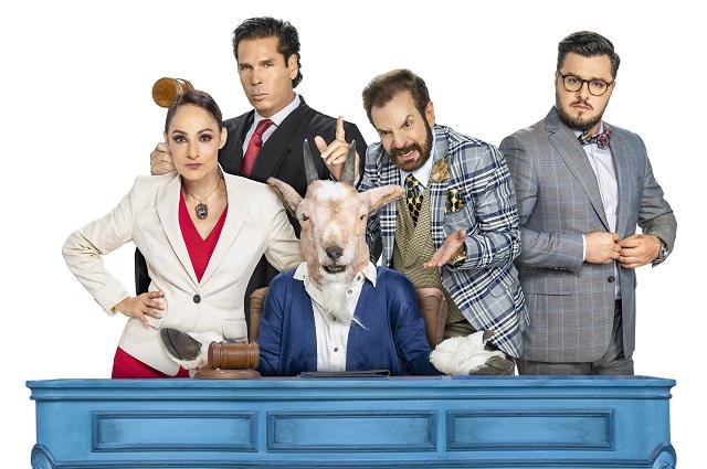 Palazuelos, El Burro, Lola Cortés y Paul Stanley juntos en Perdiendo el juicio