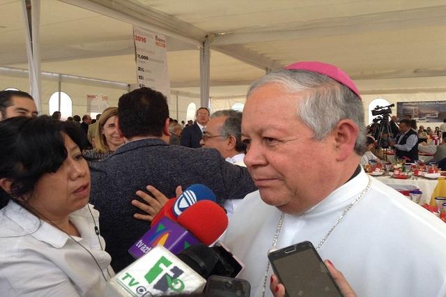 Arzobispo pide a peregrinos tomar precauciones