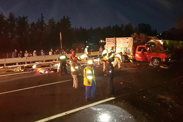 Suman 11 los peregrinos muertos por accidente en la México-Puebla