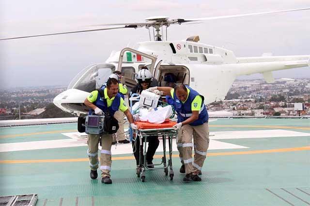 Helicópteros de Suma hacen 51 vuelos de emergencias en 4 meses