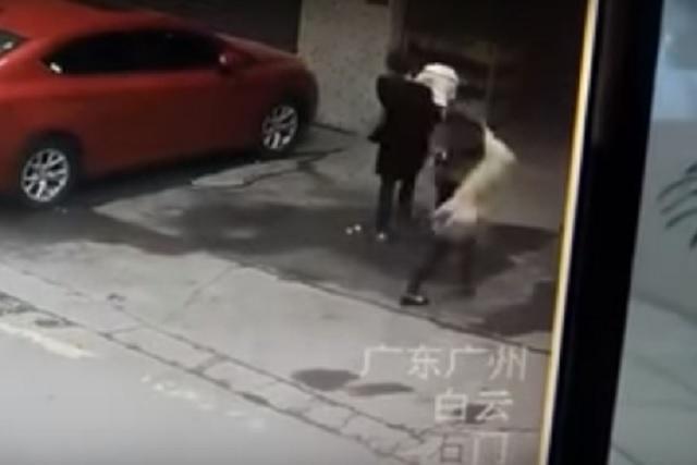 Mujer es sorprendida por perro volador