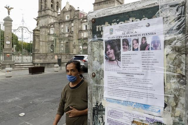 Desaparecen 3,307 mujeres en Puebla en los últimos cinco años