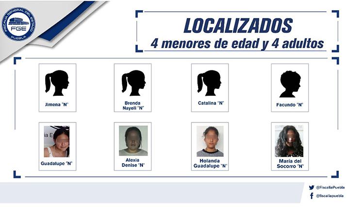 Ubican en Puebla a 8 personas reportadas como desaparecidas
