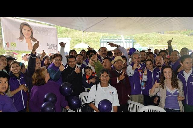 Arranca Encuentro Social campaña en Zihuateutla con Blanca Alcalá