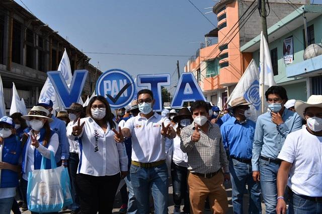 Asegura Genoveva Huerta que en el Municipio de San Martín Texmelucan el PAN hará tres de tres