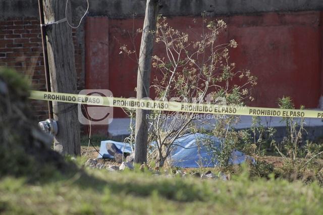 Con tiro de gracia rematan a hombre en San Pedro Cholula
