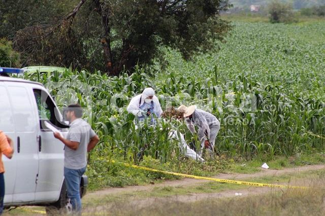 Hallan cadáver calcinado en terrenos de San Pedro Cholula
