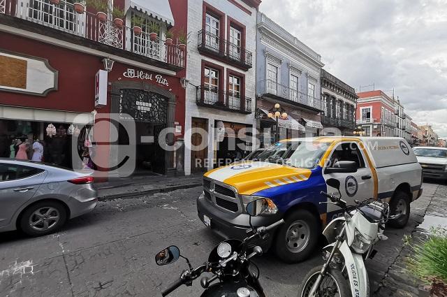 Hombre muere en un hotel del centro histórico de Puebla