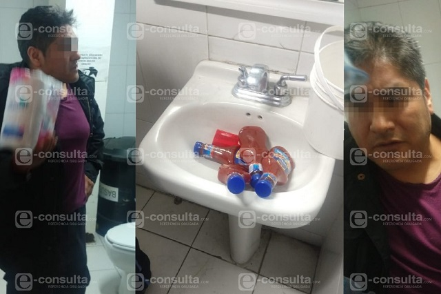 Detienen a custodio del Cereso de Puebla por robar botellas de catsup