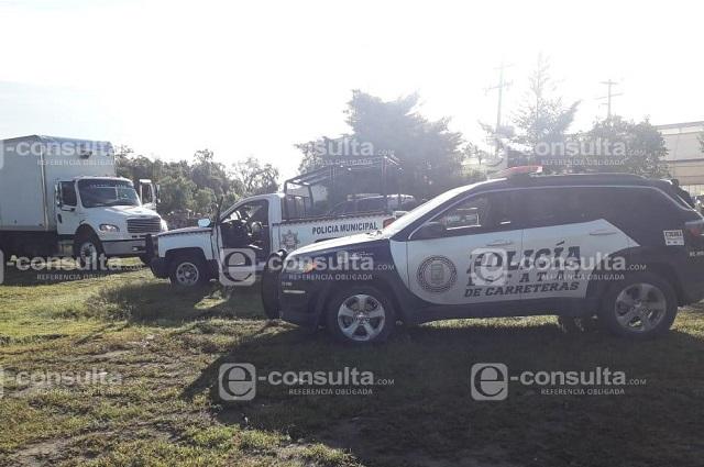 Por robo de camión, detiene PF a policías de Huixcolotla