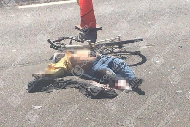Conductor de Mercedes Benz mata a ciclista en la Atlixcáyotl