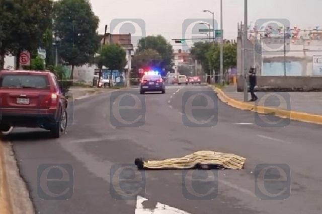 Atropellan y matan a un hombre mayor en la 9 Norte, en Puebla