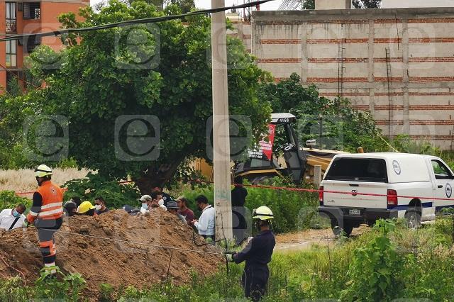Albañil muere en obras de drenaje en Cuautlancingo