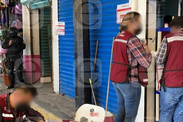 Operativo retira bares en el Mercado Morelos