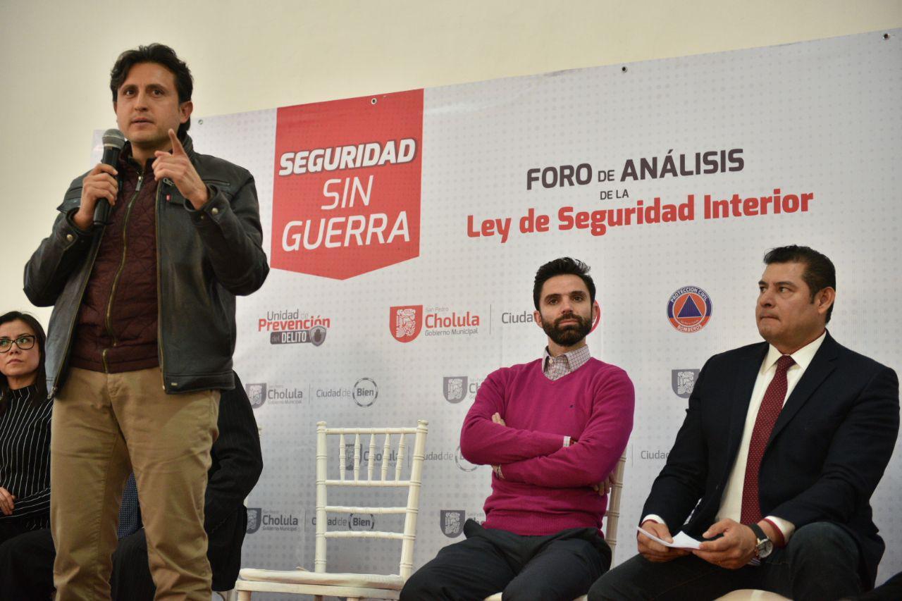 Rechazan Ley de Seguridad Interior en foro de San Pedro Cholula