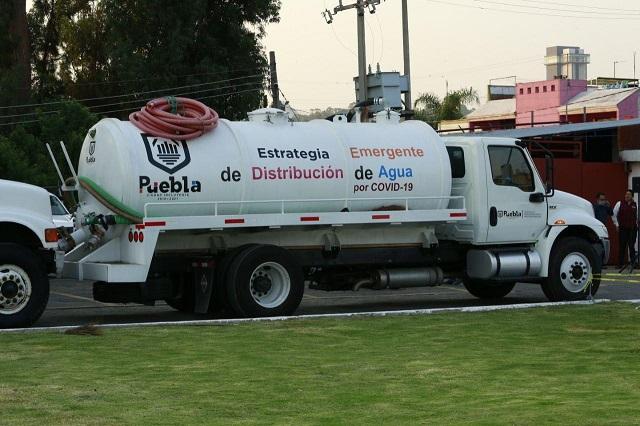 Comuna capitalina repartirá 90 mil litros diarios de agua