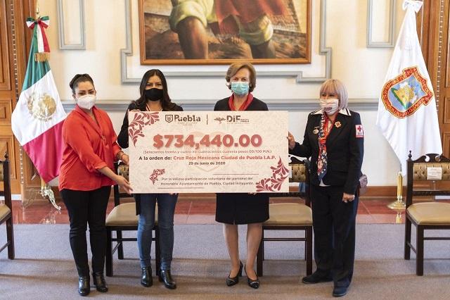 Ayuntamiento de Puebla realiza donativo a la Cruz Roja Mexicana