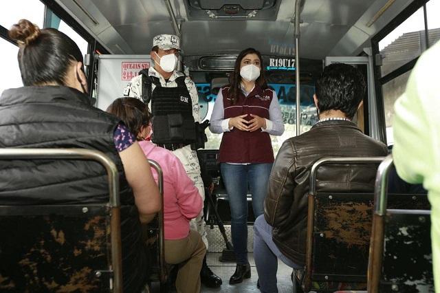 Gobierno capitalino y GN hacen operativo en transportes