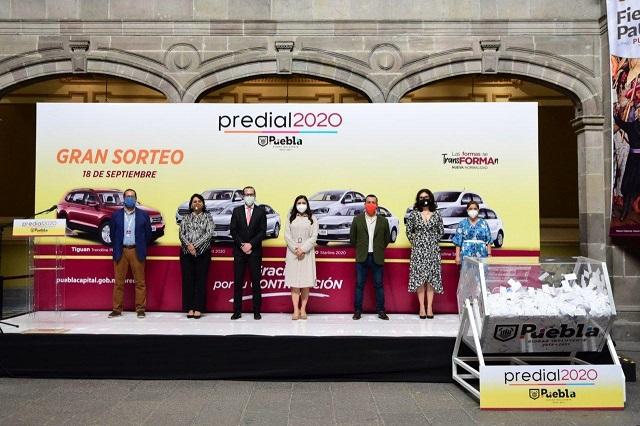 Anuncia Ayuntamiento de Puebla ganadores del Sorteo Predial 2020