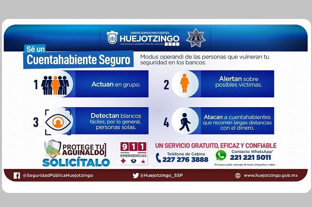 Disponible en Huejotzingo el acompañamiento bancario