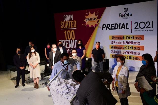 Realiza Ayuntamiento de Puebla Sorteo Predial 2021