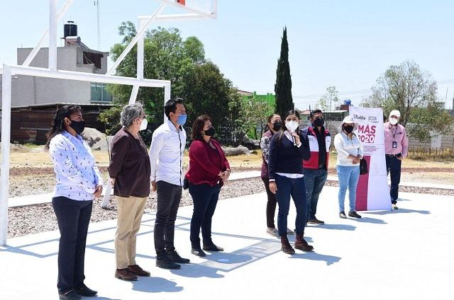 Ayuntamiento de Puebla entrega obras del Programa MAS en Aparicio
