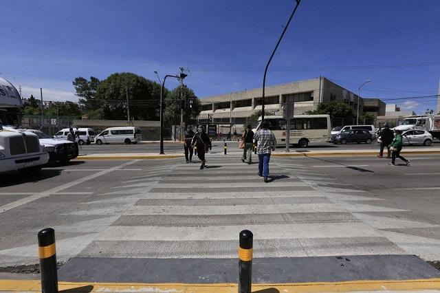 Puebla capital invierte en seguridad vial en La Margarita
