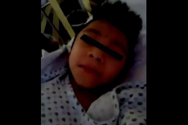 Niño pide ayuda al 'Mencho' para tratar enfermedad en los huesos