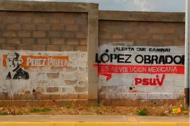 Rechaza partido venezolano haber realizado pintas de apoyo a AMLO