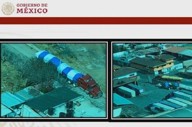 Ubica AMLO corralones de pipas cargadas con huachicol, en Puebla