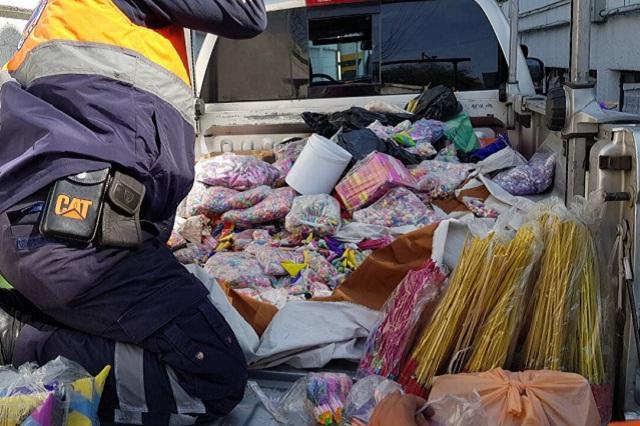Protección Civil Municipal decomisa 500 kilos de pirotecnia