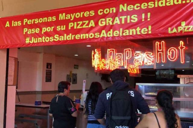 En León, darán pizzas gratis a abuelitos por coronavirus
