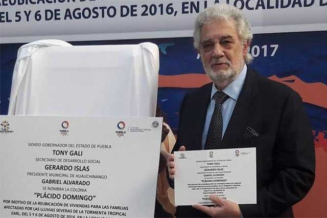 Placido Domingo es homenajeado en Puebla previo a su concierto
