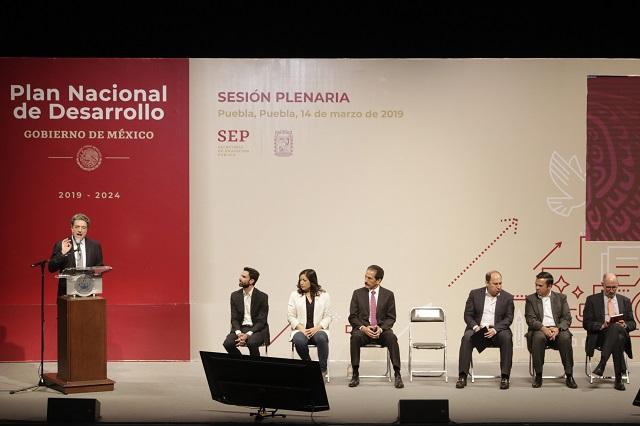 Integran propuestas de Puebla al Plan Nacional de Desarrollo