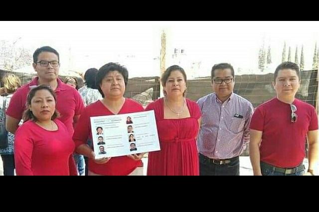 Gana planilla roja mesa directiva del Sindicato de Tehuacán