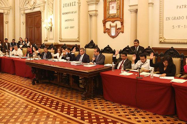 Avala Cabildo plano oficial de la ciudad de Puebla