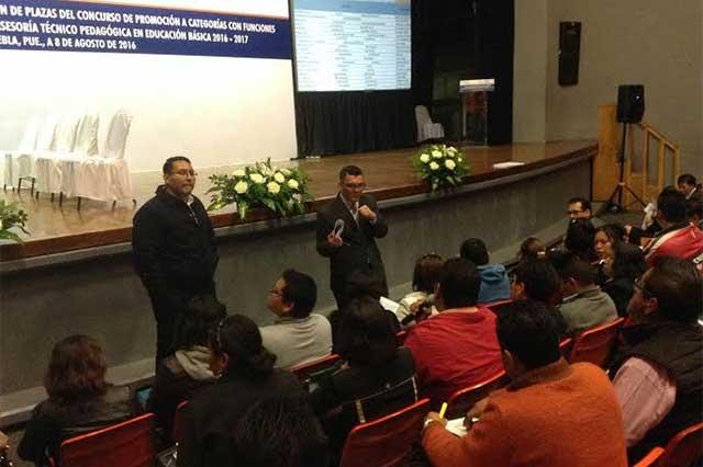 Entrega SEP Puebla 521 plazas de dirección, supervisión y asesoría