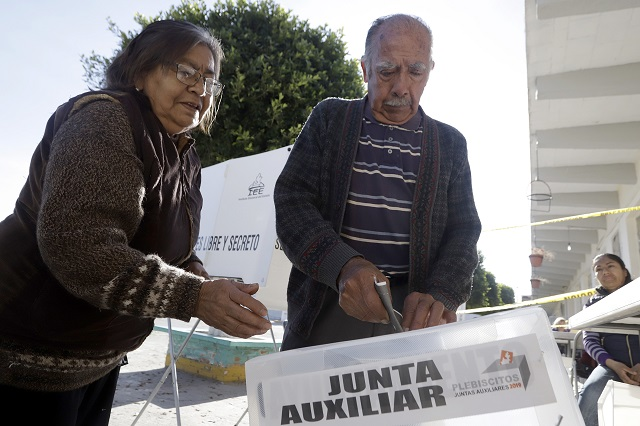 Eligen nuevos ediles auxiliares en Puebla con 11% participación