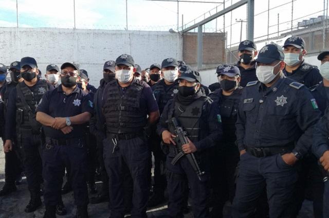 Logran acuerdo Policías Municipales de Tehuacán tras amenaza de paro