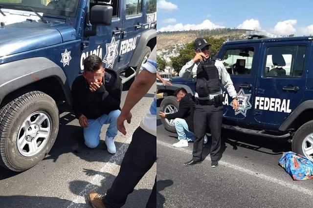 Evita la Guardia Nacional linchamiento en Tecamachalco