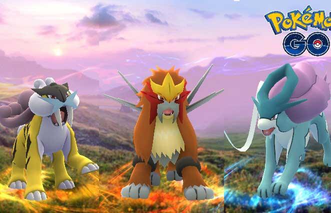 Raikou, Entei y Suicune ya llegaron a Pokémon GO