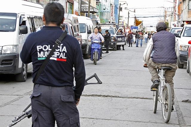 Arranca Policía Estatal y FGE revisión a policías de Texmelucan